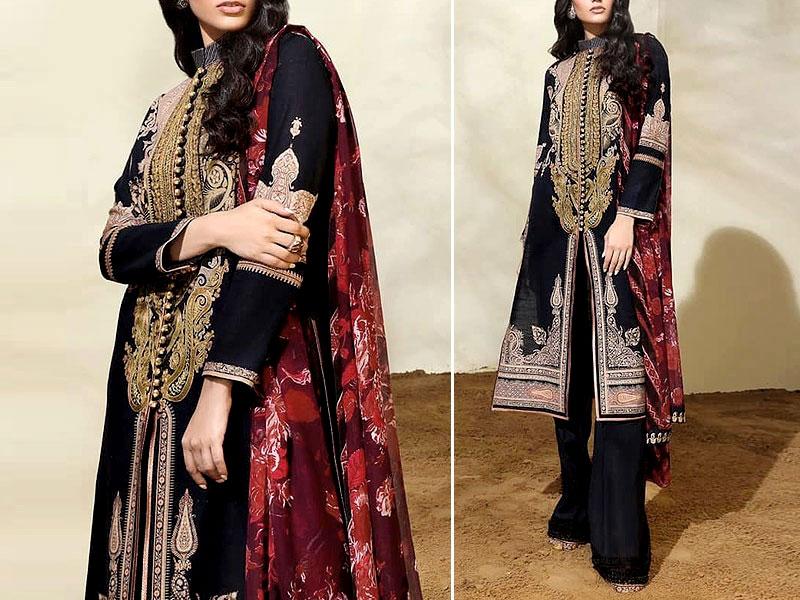 Looking Womens Khaddar Dress with Wool Shawl Dupatta 2020