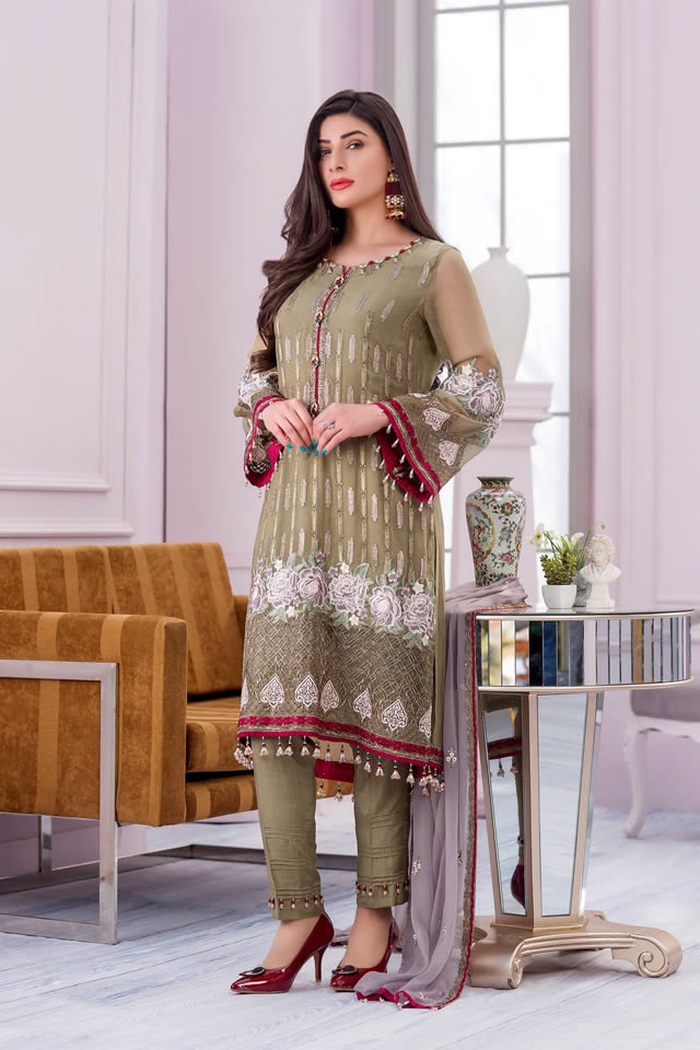 Trendy Flossie Embroidered Chiffon Collection 2020 Winter Wear