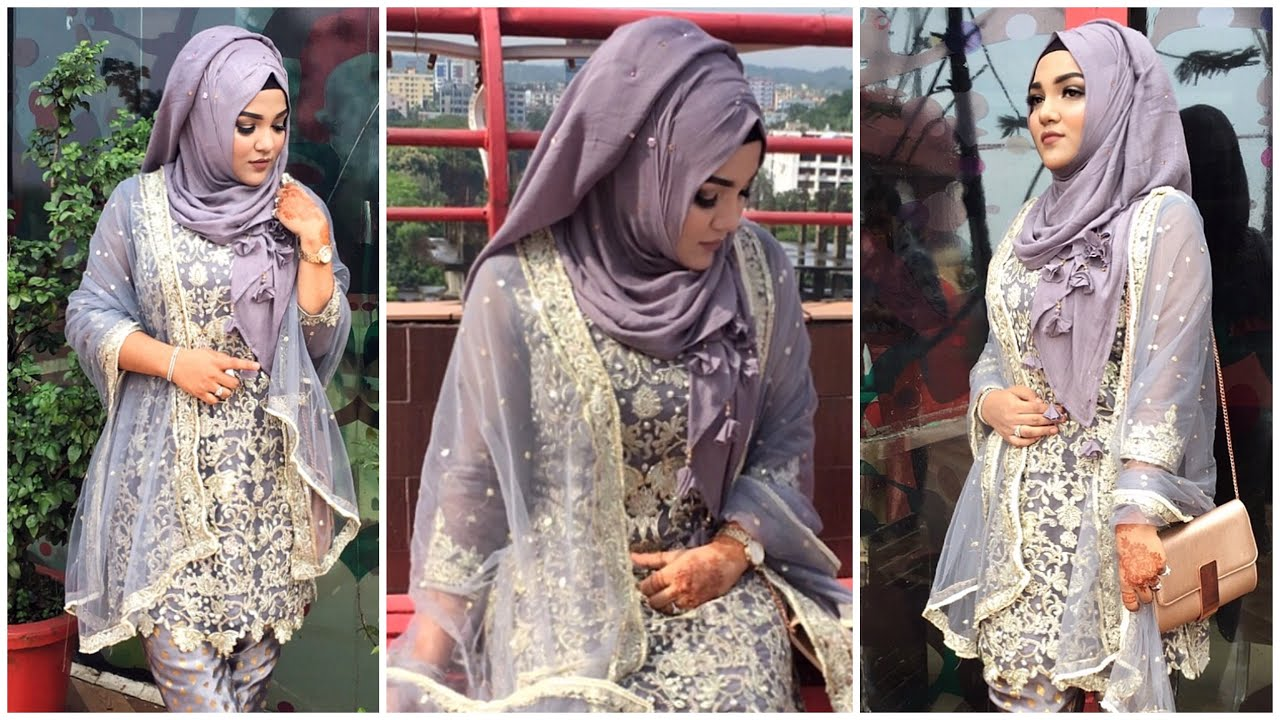 Party Wear Hijabs Styles Collection 2020 For Girls Looking