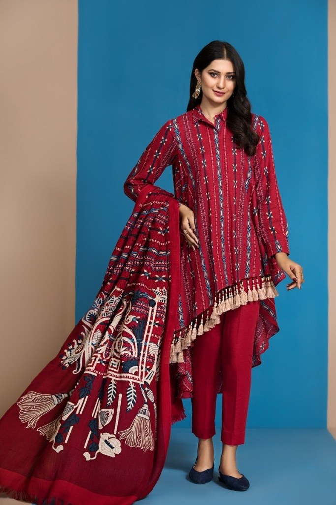 Awesome Nishat Linen Winter Look Dresses 2021 Outfits
