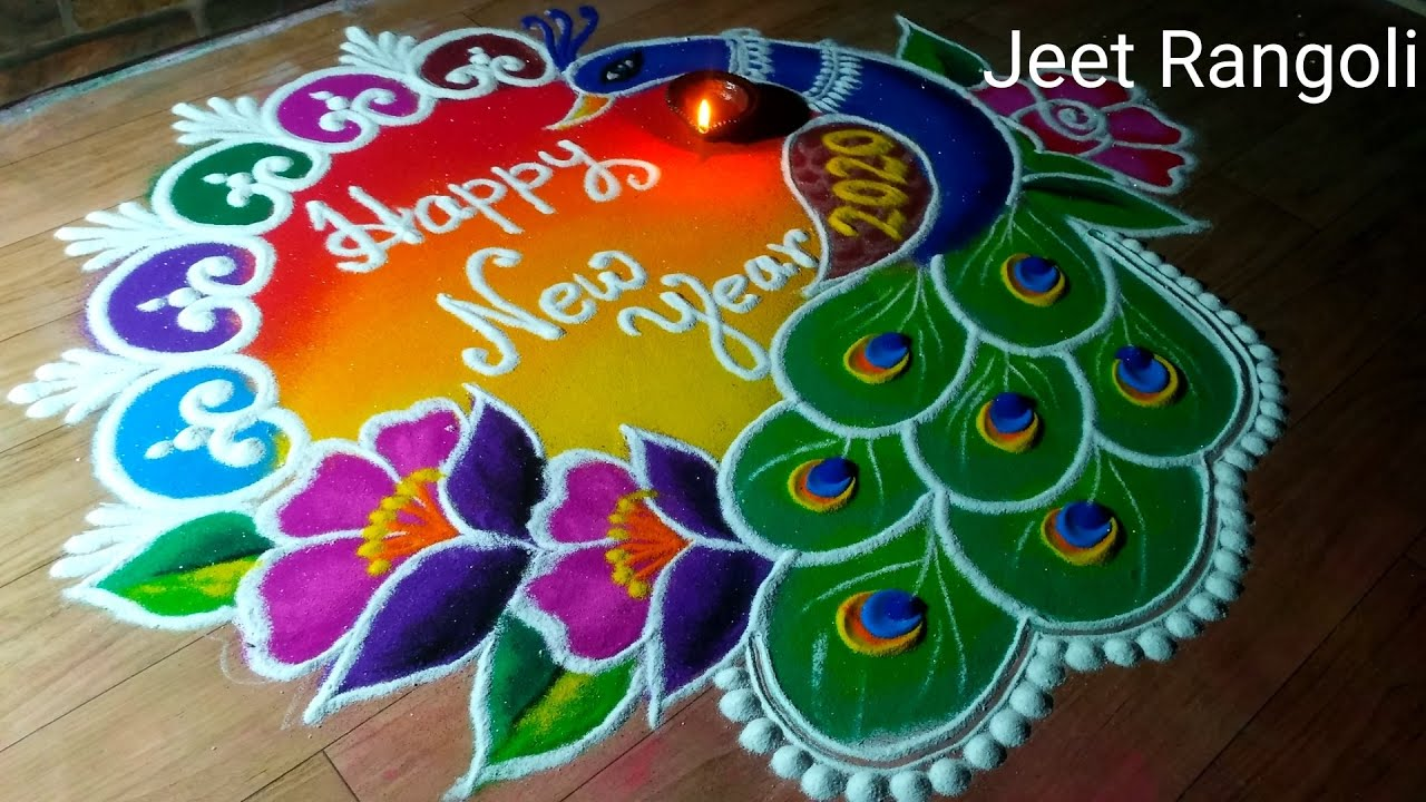 Latest Special Rangoli Designs For New Yeary To Welcome 2021