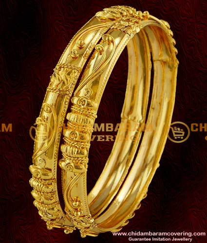 Beautiful Gold Bangle Designs in 20 Grams-New Brands