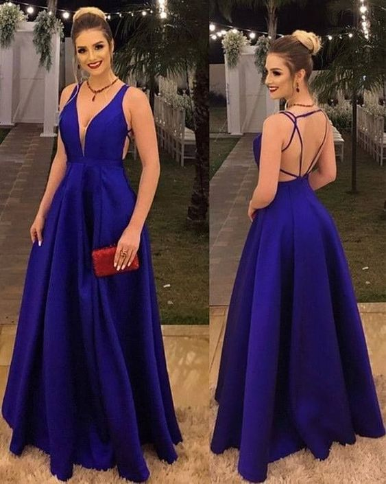 USA Fashion Teen Girls Blue Prom Gowns 2021 United Dresse's
