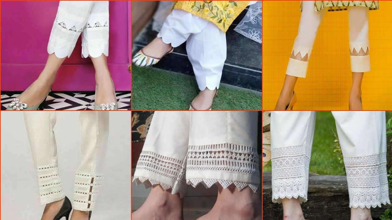 Amazing Lawn New Trouser Designs for Girls in Pakistan 2021