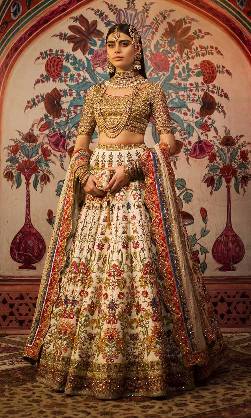 Latest Wedding Bridal Colorful Embroideries Dresses 2021