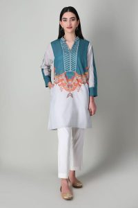 Latest Khaadi Luxury Lawn Pret Shirts Collection 2021