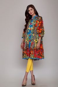 Stylish Lawn Frocks Designs For Girls 2021-Online Store