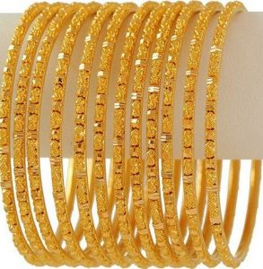 Best Designs Gold Bangle Collection For Girl & Women 2021