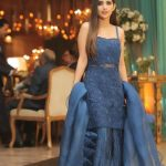 Strappy Dresses Saboor Aly fashion Designs with sleeveless