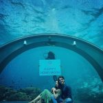 Beautiful Minal And Ahsan In An Undersea Restaurant picture