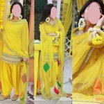 Embroidered Chiffon Yellow Mehndi Dress, Embroidered Chiffon Yellow Mehndi Dress price in pakistan, Embroidered Chiffon Yellow Mehndi Dress online shopping, Womens Clothing, Womens Dresses, Chiffon Suits, Yellow Dress, Mehndi Dresses