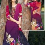 Latest Linen Suit with Wool Shawl Dupatta Winter Collection 2020