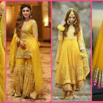 Latest Mehndi Dresses For Bridal Looking 2020 Ubtan Collection
