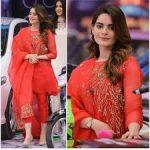 Best Actress Aiman Khan Beautiful Dress In Jeeto Pakistan
